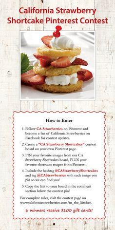 California Strawberry Shortcake Pinterest Contest