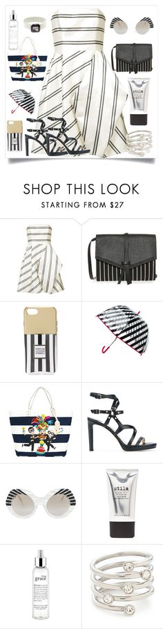 """""""Striped Party Dress..**"""" by yagna ❤ liked on Polyvore featuring Halston Heritage, Isabel Marant, Iphoria, Kate Spade, Dolce&Gabbana, Jimmy Choo, Cutler and Gross, Stila, philosophy and Michael Kors"""