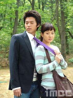 Hyun Bin from My Name is Kim Sam Soon -- adorable couple! Also demonstrating the purpose of a necktie.