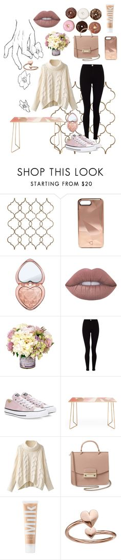 """""""Donuts"""" by taylormanley ❤ liked on Polyvore featuring Rebecca Minkoff, Too Faced Cosmetics, Lime Crime, Lipsy, Converse, DENY Designs, Furla, MILK MAKEUP and Alex and Ani"""