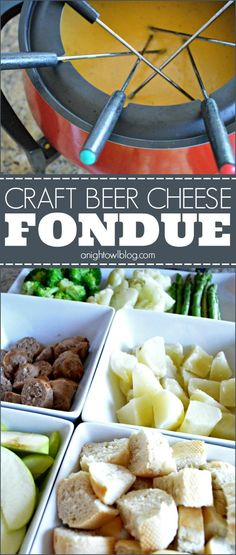 Craft Beer Cheese Fondue | #craftbeer #cheese #fondue #appetizers #recipe