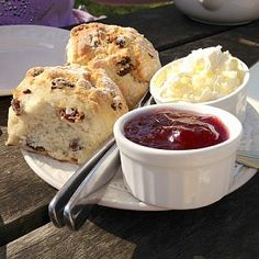 Marielle thinks this is some of the most delicious food in England. - Kelsey  Enjoy a Devon cream tea! (Old Bakery, Branscombe)