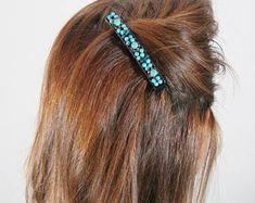 turquoise hair clip, turquoise jewelry, clip hair, clips for hair, hair barrettes, fancy hair clips, hair jewelry, hair slides, hairclips