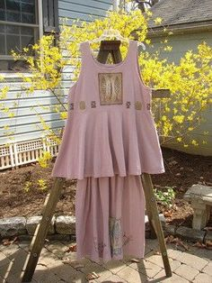 This Patio Rose Dress and Smocked Skirt are from the Spring Collection of 1995 in Patio Rose in Perfect Size...