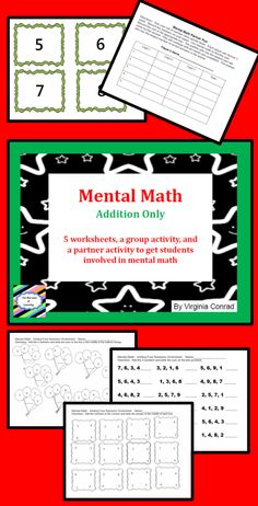 Get your kiddos mentally solving addition problems with multiple addends with these activities and worksheets.