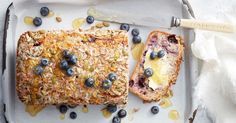 Made with fresh blueberries, coconut and seeds, this gluten-free loaf is best served warm with butter and honey.