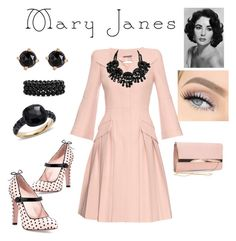 """""""Mary Jane look"""" by jewel20745741 on Polyvore featuring RED Valentino, Alexander McQueen, New Look, Irene Neuwirth, Bling Jewelry and Pomellato"""