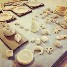 "Making miniatures for small muse house, street art, ""trolldeg, #salt dough, #play dough #create,"