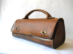 Tool Bag, Small Valise, Doctor's Bag, or Unique Ladies Handbag Leather Tooling, Leather Purses, Leather Handbags, Leather Bag, Vintage Purses, Vintage Bags, Vintage Handbags, Trendy Handbags, Purses And Handbags