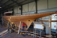 Under construction at Robbe & Berking in Flensburg, Germany: Johan Anker's final 12mR (design number 434) from 1939, never before built. Thanks to Classic Wooden Yacht for the share via HSS Classic Yacht Committee. ~ http://classics.robbeberking.de/