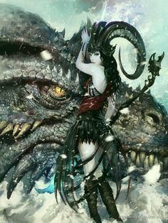 Demonio y su dragon