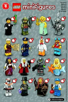 Lego minifigures series 9 list