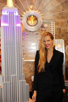 October 16, 2012 - Model and philanthropist Petra Nemcova lit the building in purple, blue and gold to celebrate tonight's lighting for Only Make Believe before taking in the views from the 86th floor Observatory and VIP 103rd floor.