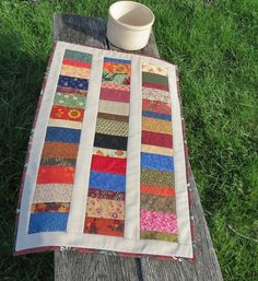 Back Roads Scrappy Quilted Table Runner by scarecrowcabin on Etsy