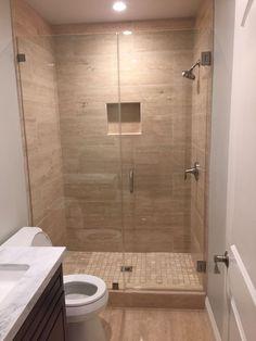32 Ideas For Tiny Bathroom Remodel Layout Showers Modern Bathroom Tile, Bathroom Design Small, Bathroom Layout, Bathroom Interior Design, Small Bathrooms, Master Bathroom, Basement Remodeling, Bathroom Renovations, Shower Remodel
