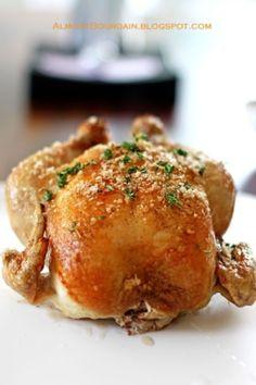 Herb Encrusted Roasted Chicken.