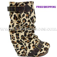 Irregular Choice Boots Longer Lashes in Leopard Shoes
