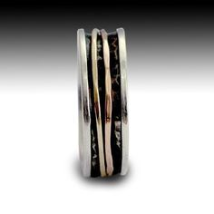 Men's Wedding band   Sterling silver  yellow and door artisanlook, $174.00