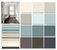 Favorite colors from the 2015 paint color forecasts from the paint companies. Examples of rooms painted in the forecasted colors. The Creativity Exchange.