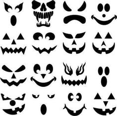 halloween decorations Create-A-Face Halloween decals are designed to fit our COE 90 & COE 96 round and oblong precut glass pumpkins. Pumpkins can be found in our Etsy store unde Moldes Halloween, Halloween Wood Crafts, Theme Halloween, Adornos Halloween, Halloween Projects, Holidays Halloween, Fall Crafts, Halloween Pumpkins, Halloween Crafts