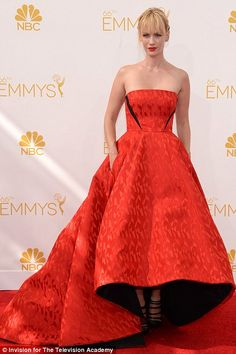 January Jones hit a high note in her Prabal Gurung gown at the 2014 Emmys http://dailym.ai/1lufdYb