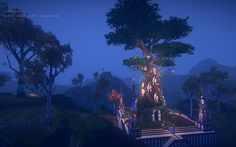 The lyretree from Skylines. cosy.