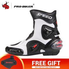 47ec55c7c6 PRO-BIKER Motorcycle Boots Men PU Leather Motocross Boots Moto Motorboats  Shoes Motorbike Racing Career Bicycle Speed Boots