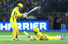 Mahendra Singh Dhoni's Indian Premier League (IPL) win against the Rajasthan Royals (RR) was marred by an incident where he lost his cool dramatically towards the end of the game, leading to for Shaun Tait, Bruno Mars Songs, Cricket Poster, Dhoni Quotes, Cricket Coaching, Ms Dhoni Wallpapers, Cricket Videos, Ravindra Jadeja