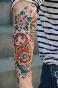 Matryoshka tattoo -- i really like it although i don't think i'd get a tat as big!