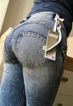 ab032f5ca8f741 Freddy Jeans Modell: WR.UP skinny Regular waist, normale Bundhöhe Farbe:  Blau