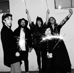 There's a lot of love in Grouplove. It's literally seconds into their interview and already they're bantering away and playfully mocking one another like a true gang of mates. Stood in the basement of an East London bar, the transatlantic five-piece of Christian Zucconi (vocals, guitar), Hannah Hooper (vocals, keys), Sean Gadd (bass, vocals), Andrew Wessen (guitar, vocals) and Ryan Rabin (drums) are quite the energetic bunch.