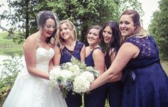 Bridesmaids laughing  | Vintage wedding photography | www.newvintagemedia.ca | South Pond Farms Wedding