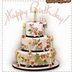 Happy Birthday Gifs Animated - AJglitterimages