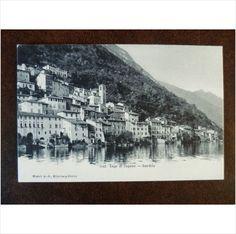 Switzerland Gandria Lake Lugano 6141 vintage postcard Lago di Lugano