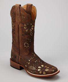 Rust Leather C-Toe Western Boot - Women | Daily deals for moms, babies and kids