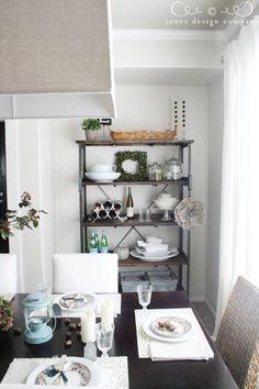 Dining shelf styling