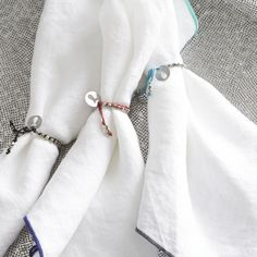 Mallorca Napkin Rings  |and Barrel Crisp white with a little contrast!
