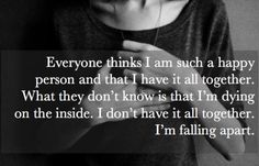 """How could anyone that knows me at all actually think I am anywhere near """"okay"""". I'm falling apart and no one notices or no one cares. And I'm not sure which is worse? Sad Life Quotes, Quotes To Live By, Love Quotes, Inspirational Quotes, Self Hate Quotes, No One Cares Quotes, Quotes Pics, Teen Quotes, Super Quotes"""