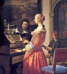 Frans Van Mieris The Elder (Dutch Baroque Era painter, 1635-1681) Duet - PInterest