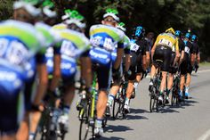 Chris Froome of Great Britain and SKY Procycling rides in a paceline amongst his team-mates during stage sixteen of the 2013 Tour de France, a 168KM road stage from Vaison-la-Romaine to Gap on July 16 Gap, France.