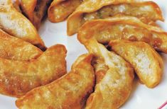 Potstickers, those tasty, hand-made Chinese dumplings, generally feature pork, b. Fried Dumplings Chinese, Gyoza Dipping Sauce Recipe, Chinese Rice Recipe, Frozen Potstickers, Deep Fried Recipes, Frozen Dumplings, Snack Recipes, Hardboiled, Recipes