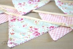 Accessorize this Spring and Summer with these beautiful handmade bunting banners! Each banner is handmade with ten flags that are double sided with the finest fabrics! Perfect for garden parties, birt