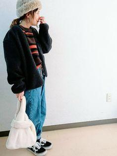 帽子と靴以外はプチプラ☺ GUのトップスの配色がすき💕 そういえば、いつもコメ欄で言うの忘れるんで