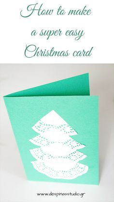 7 days of Christmas cards : DIY Super easy Christmas card (day #2)