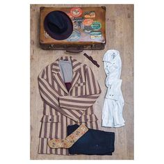 OUTFIT For THE SATURDAY NiGhT FW15 !  #adv #ai15 #autumn #fall #fw15 #fw1516  #berna #bernaitalia #fashion #style #shirt #cost #stripe #hats #papillon #bag #trousers #man #boy #ootd #outfit #top