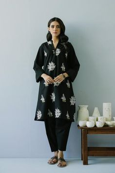 EMBROIDERED SHIRT (WTR211268) | ETHNIC