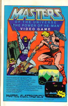 Masters of the Universe Video Game Comic Book Ad.