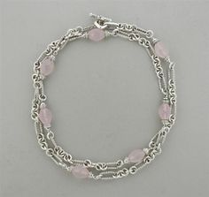 David Yurman Sterling Rose Quartz Diamond Necklace Featured in our upcoming auction on November 3!
