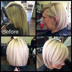 Transformation from box colour & damaged to blonde & sharp #thehairloungeoldham
