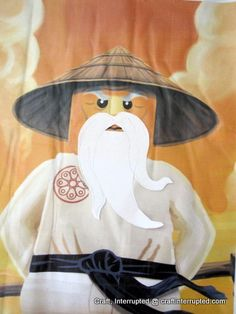 Ninjago Party: Pin the Beard to Sensei Wu.